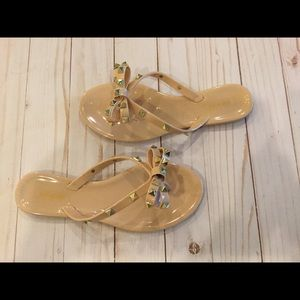 Ann Moore Shoes Studded Flip Flops Nude Jelly Poshmark